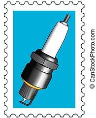Sparking plug stamp