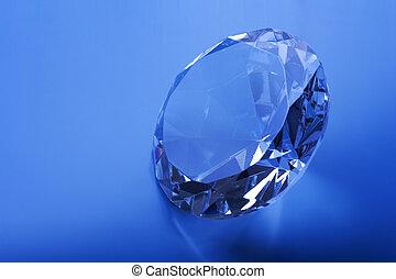 Diamond on a blue background