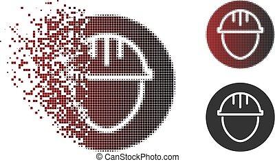 Sparkle Pixel Halftone Helmet Circle Icon