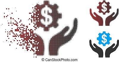 Sparkle Pixel Halftone Maintenance Price Icon - Vector...