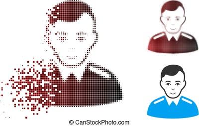 Sparkle Pixel Halftone Officer Icon