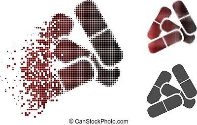 Sparkle Pixel Halftone Pills Icon