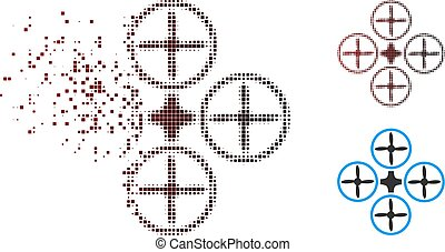 Sparkle Pixel Halftone Quadcopter Icon