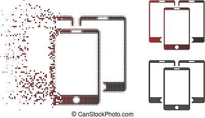 Sparkle Pixelated Halftone Mobile Phones Icon