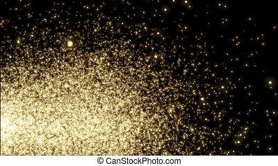 sparkle., plantilla, -, parpadeo, amarillo, diseño, luces, plano de fondo, negro, navidad