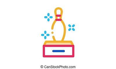 Sparkle Skittle Icon Animation. color Sparkle Skittle animated icon on white background