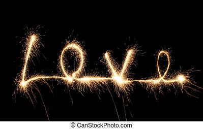 sparkler, amor