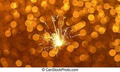 Sparkler and Christmas or New Year background - Sparkler ...