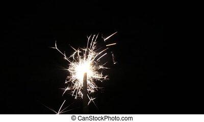 sparkler, briller, nuit, clair