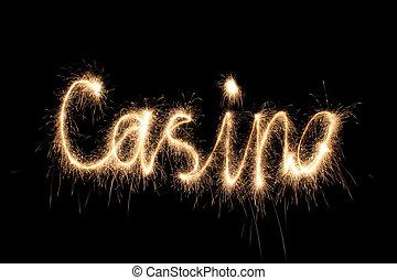 sparkler, casino, palabra