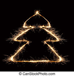sparkler christmas tree 2
