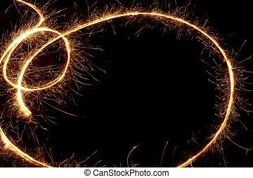 sparkler, espace copy, fond