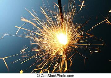 sparkler, fuoco