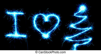 Sparkler I Love Christmas