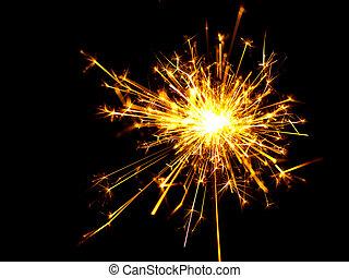 sparkler, navidad