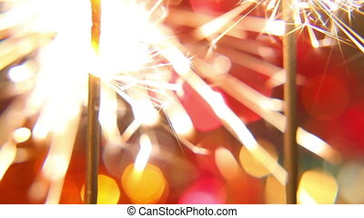 sparkler on a bright, colored background