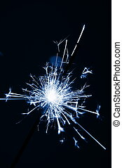 sparkler on christmas or new year with copypsace