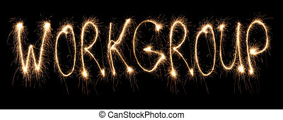 sparkler, palavra escrita, workgroup