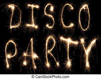 sparkler, partido, discoteca