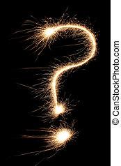 sparkler, punto interrogativo