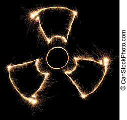 sparkler, radiazione