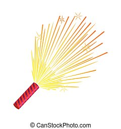 Sparkler. Set of Fireworks. Pyrotechnic Devices - Sparkler...