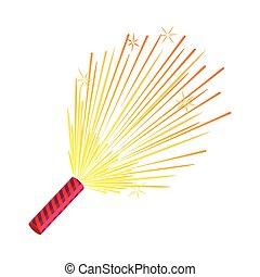 Sparkler. Set of Fireworks. Pyrotechnic Devices - Sparkler...
