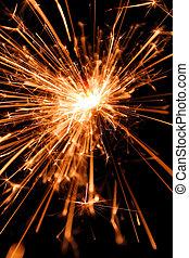 Sparkler - sparkler over black