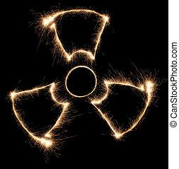 sparkler, stråling