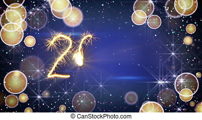 sparkler text animation new 2017 year greeting. Last 10 ...