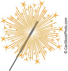 sparkler vector icon