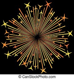 sparklers, explosion, fond