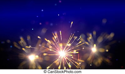 sparklers, pętla
