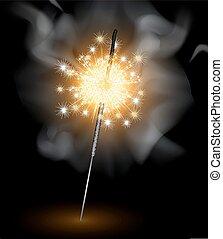 sparklers, sfondo nero