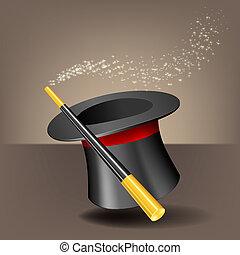 sparkles., bacchetta magica, cappello
