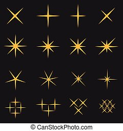 Sparkles icon set