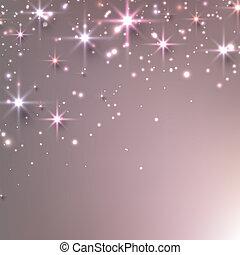 sparkles., natal, estrelado, fundo