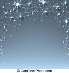 sparkles., navidad, estrellado, plano de fondo