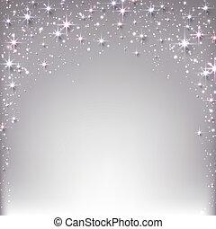 sparkles., noël, étoilé, fond