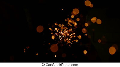 Sparkles of welding torch 4k - Sparkles of welding torch in ...
