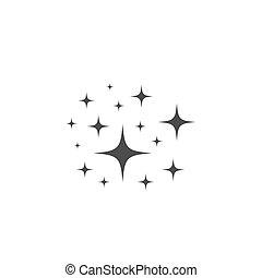 Sparkles stars vector icon