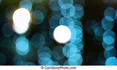 Sparkling and defocused green lights background, bokeh background, abstract blurred lights