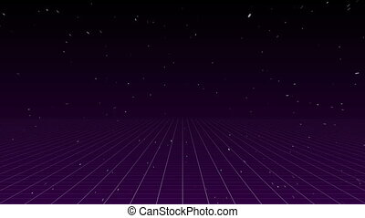 Sparkling and lined against violet background - Digitally...