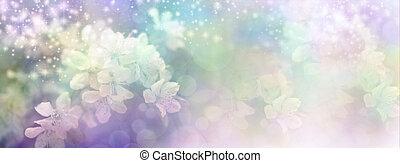 Sparkling Blossom Wedding Theme Banner