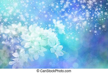 Sparkling Blue Blossom Wedding Bann