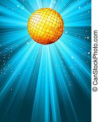 Sparkling blue disco ball. EPS 8