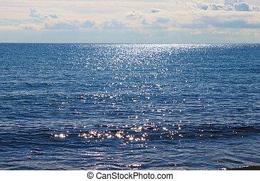 Sparkling blue sea