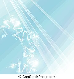 Sparkling bright winter background