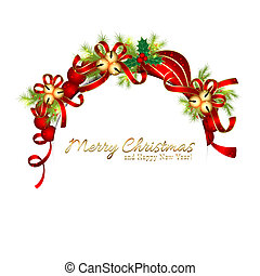 Sparkling Christmas Bell Snowflake Greeting Card