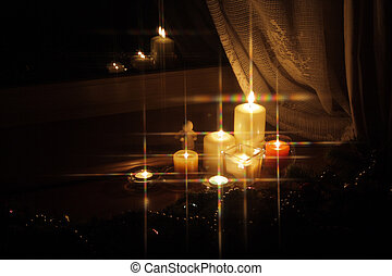 Sparkling Christmas candles - 6 - Candles with Christmas ...